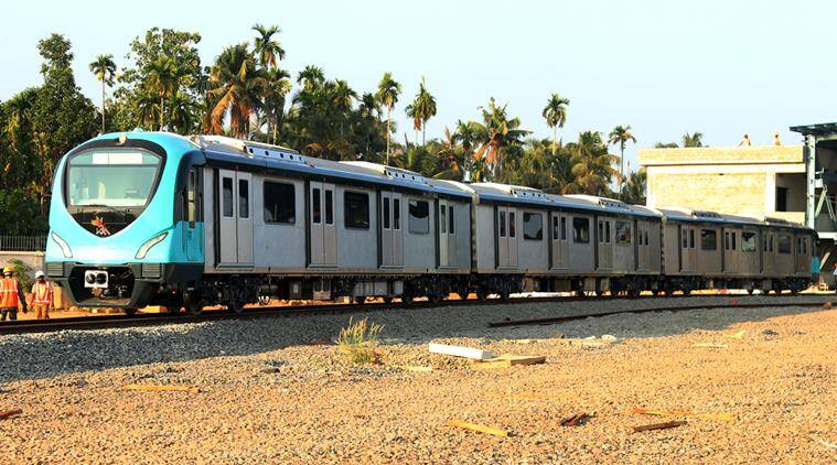 The first set of train coaches delivered by Alstom India at the Muttom yard in Kochi, Kerala (Image courtesy: KMRL)