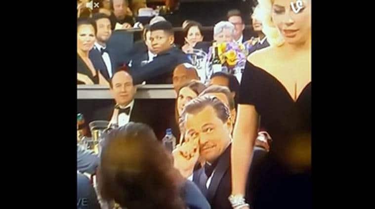 Leonardo DiCaprio, Lady Gaga, Leonardo DiCaprio Lady Gaga clip, Leonardo DiCaprio Lady Gaga video, Leonardo DiCaprio Lady Gaga news, Leonardo DiCaprio news, Golden Globes, Golden Globes news, entertainment news