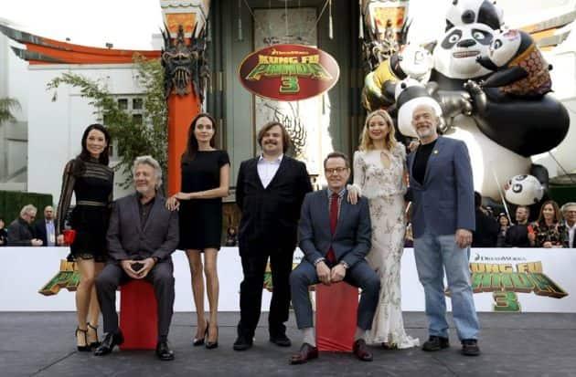 Lucy Liu, Dustin Hoffman, Angelina Jolie, Jack Black, Bryan Cranston, Kate Hudson, J.K. Simmons, Kung Fu Panda 3 prmeiere