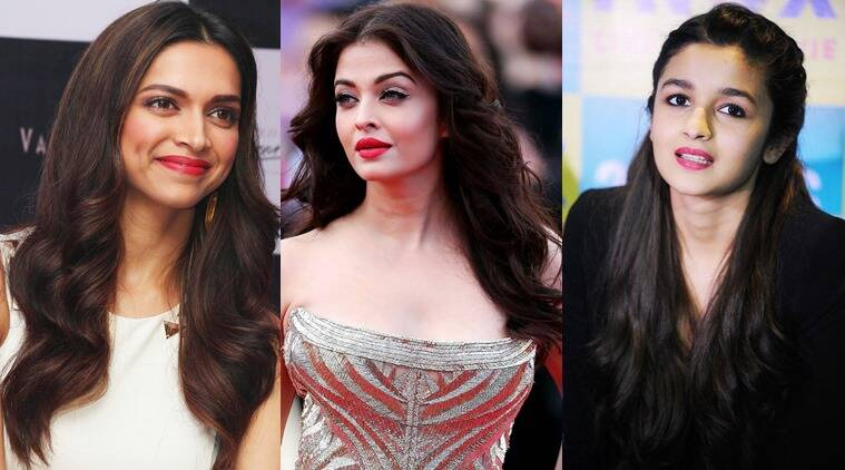 From L to R: Deepika Padukone, Aishwarya Rai Bachchan and Alia Bhatt.