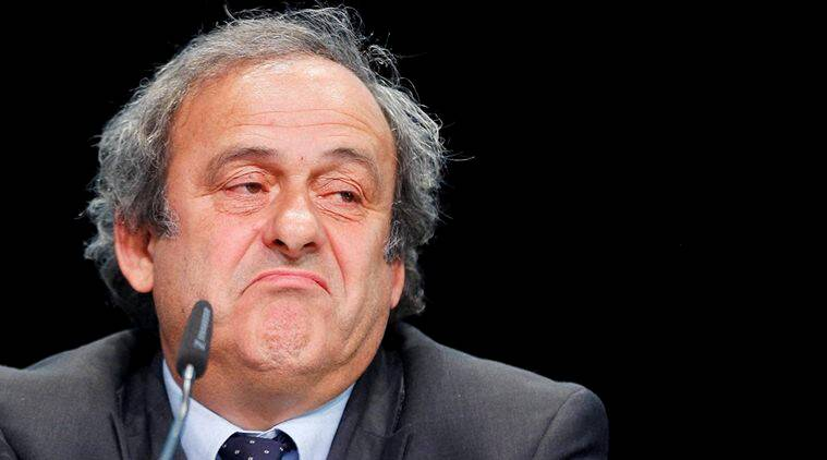 Michel Platini addresses media and calls off his candidancy ofr FIFA president. (Sources: AP)