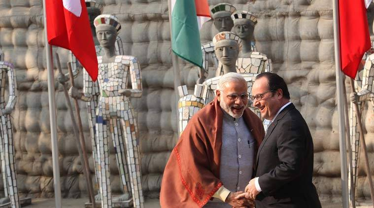 Francois Hollande, Narendra Modi, Hollande in India, Hollande Modi meeting, ISIS, terrorism threat, India-French partnership, Indo-French relations