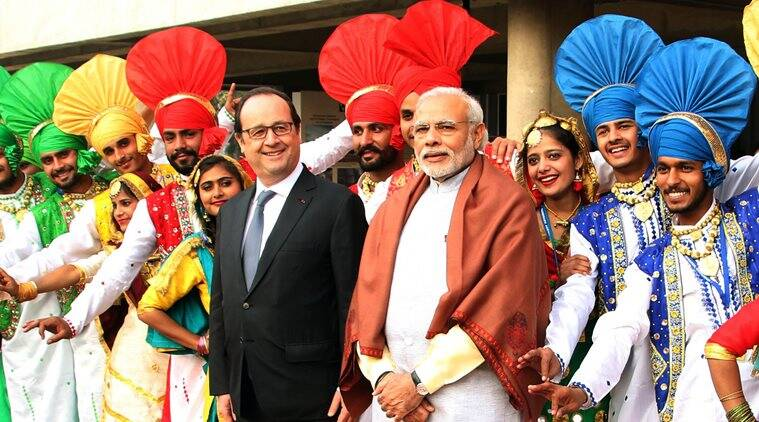 Narendra Modi, Francois Hollande, Hollande India visit, Modi and Hollande, French president Hollande, Hollande in India, Modi Hollande meet, French president, France news, India news