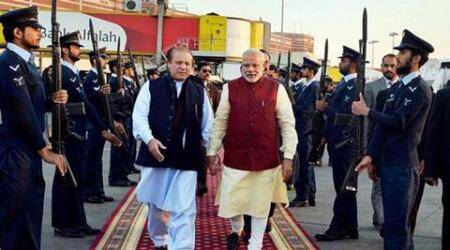 narendra modi, nawaz sharif, modi in lahore, modi sharif meeting, pathankot attack, pathankot air base attack, modi pakistan visit, india pakistan relation, india news, pakistan news, latest news, indian express column