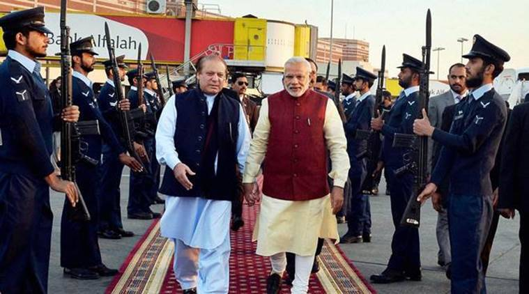 PM Narendra Modi with Pakistan PM Nawaz Sharif