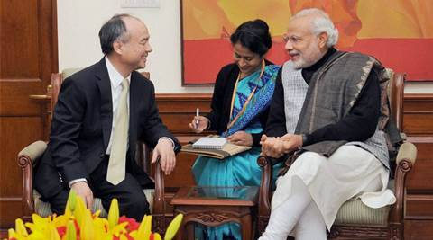 SoftBank says Startup campaign  is Big Bang for India; may scale up its planned $10 bn investment - The Indian Express