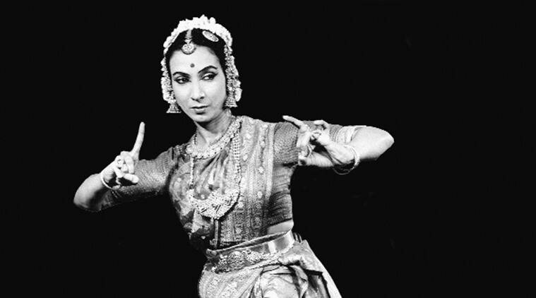Mrinalini Sarabhai during one of the dance performances. (Photo: Courtesy Darpana Academy of Performing Arts archive).