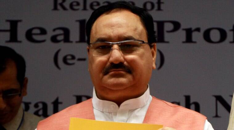 Union minister J P Nadda at the Releasing National Health Profile 2015 (e- book) in New Delhi on Tuesday. Express Photo by Prem Nath Pandey. 22.09.2015.