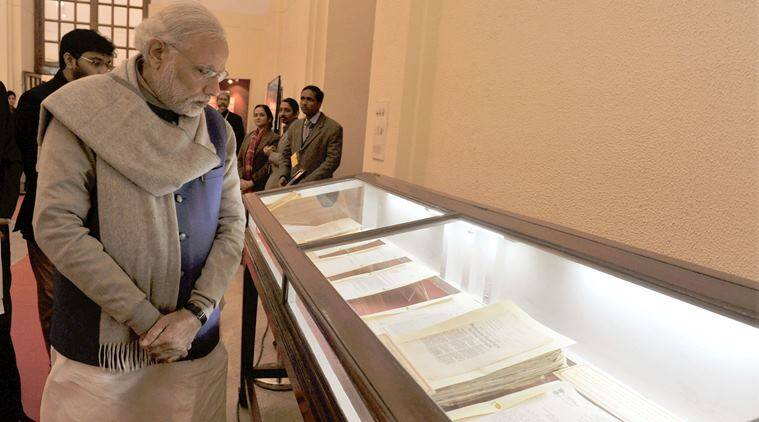 PM Narendra Modi at the National Archives during the launch of the digitised files related to Netaji, in New Delhi on January 23, 2016.