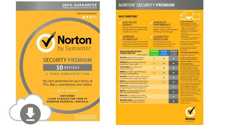 norton security premium expressreview excellent safety for multiple devices the indian express. Black Bedroom Furniture Sets. Home Design Ideas