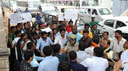 ABVP and NSUI students clash over Rohith Vemula suicide case