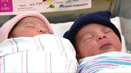 These New Year's twins were born a 'year' apart