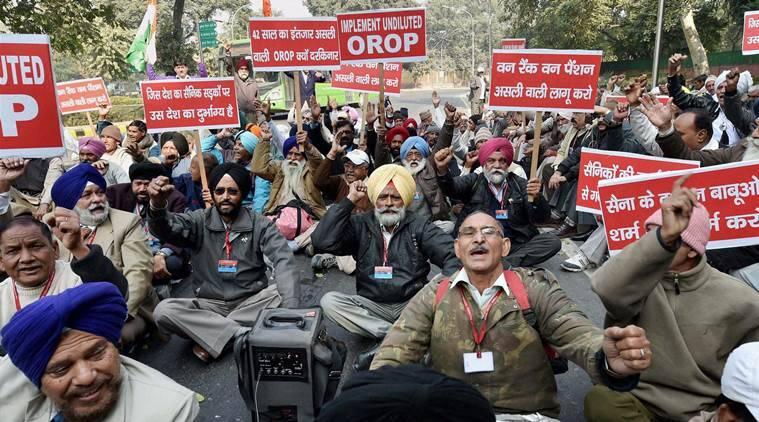 OROP, OROP protest, corrections in OROP notification, one rank one pension, arun jaitley. OROP haitley, OROP ex servicemen, jantar mantar OROP