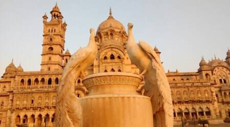 Lukshmi Vilas Palace in Gujarat is a magnificent blend of ideas carved in stone
