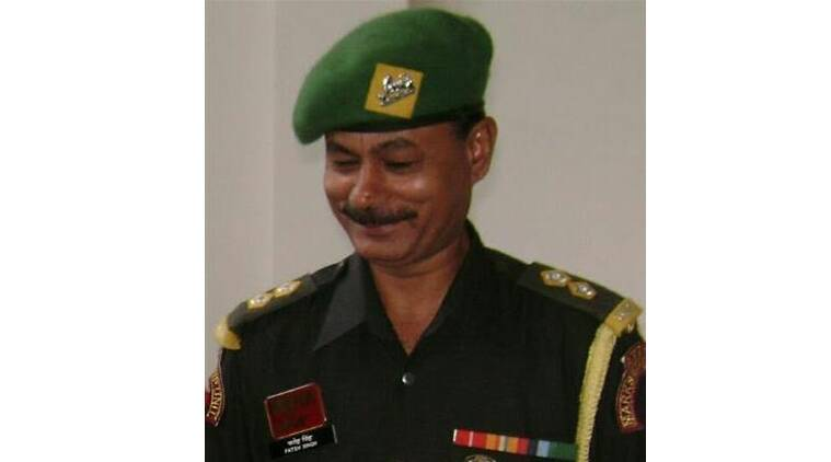 Subedar Major Fateh Singh retired from the Dogra regiment in 2009 and joined the Defence Service Corps.