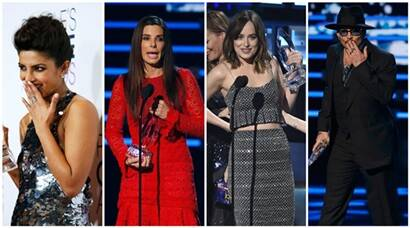 priyanka chopra, peoples choice awards, priyanka, winners at people choice awards, priyanka chopra quantico, dakota johnson, dakota peoples choice awards, johnny depp, chris hemsworth, grey's anatomy, sandra bullock, shawn mendes, priyanka chorpa pics, johnny depp pics, entertainment