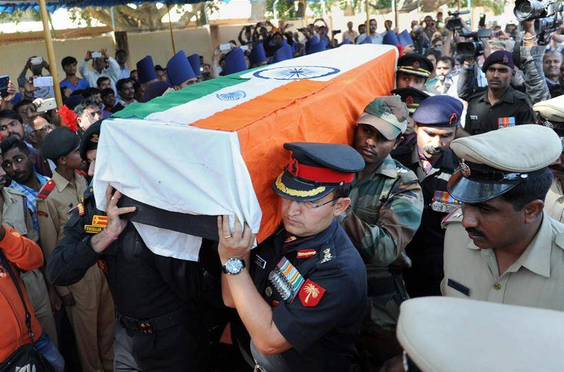 Thousands pay last respects to NSG officer Lt Col Niranjan ...