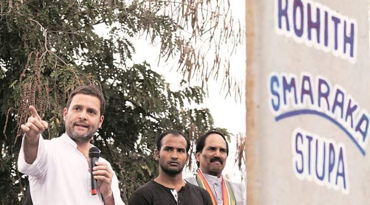 rahul gandhi, Hyderabad Central University, dalit, dalit suicide, rohith vemula, Smriti irani, outrage in hyderabad, dalit letter, rohith suicide letter