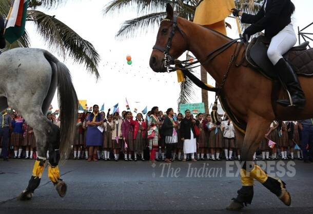 Republic day, Republic Day Celebration, Republic Day Parade, Republic Day Mumbai pics, Republic Day Mumbai Photos, Mumbai, francois hollande, Narendra Modi, Pranab Mukherjee, Republic day pics, republic Day Photos, Republic day 2016, republic day images, republic day images 2016, republic day Parade