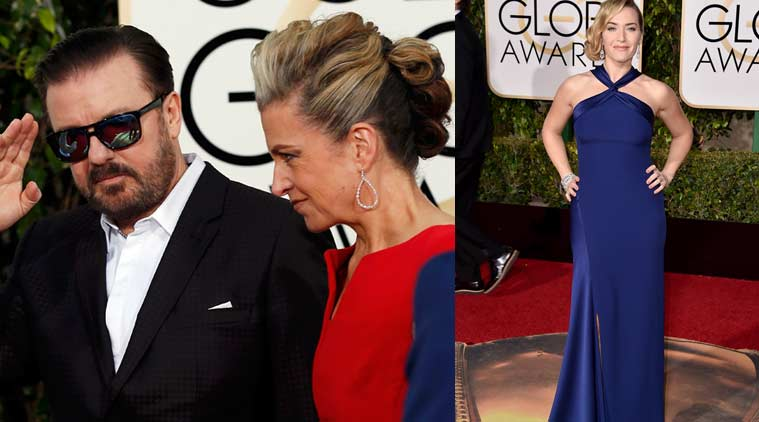 73rd Golden Globes Awards, Golden Globes 2016, Golden Globes Awards 2016, Rick Gervais, Kate Winslet, Sean Penn