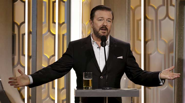 Golden Globes 2016, Golden Globes review, Golden Globes TV review, Ricky Gervais,. Kate winslet, Glden Globe Awards, Golden Globe Awards 2016