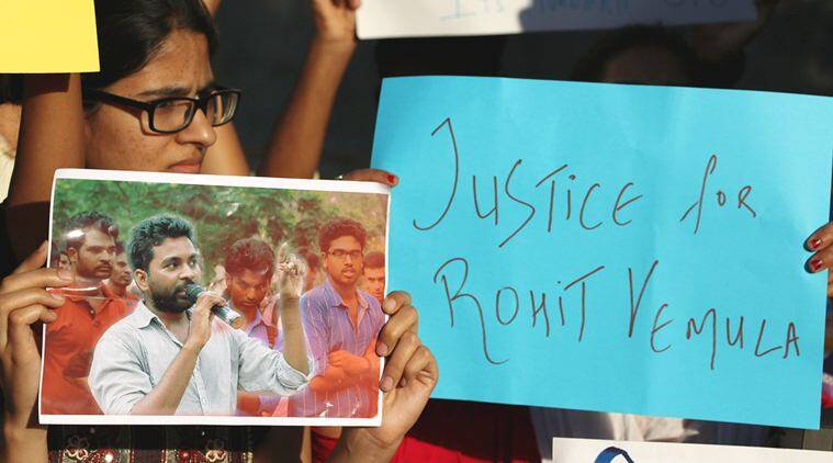 Rohith Vemula, Dalit student, Dalit student suicide, Hyderabad, Hyderabad University, Rohith Vemula Suicide, Rahul Gandhi, HRD ministry, HYderabad protests, Dalit protests, India news