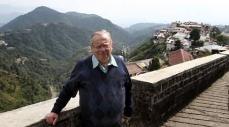 Ruskin Bond, an Indian author of British descent at his house at Landour Cantt. in Mussoorie, oct 22nd 2012. Express photo by RAVI KANOJIA.