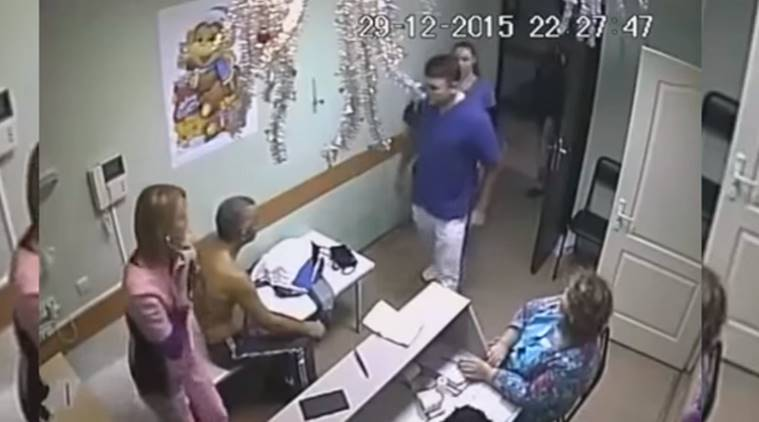 russian doctor punches patient, viral videos, viral news, shocking video, medical videos,