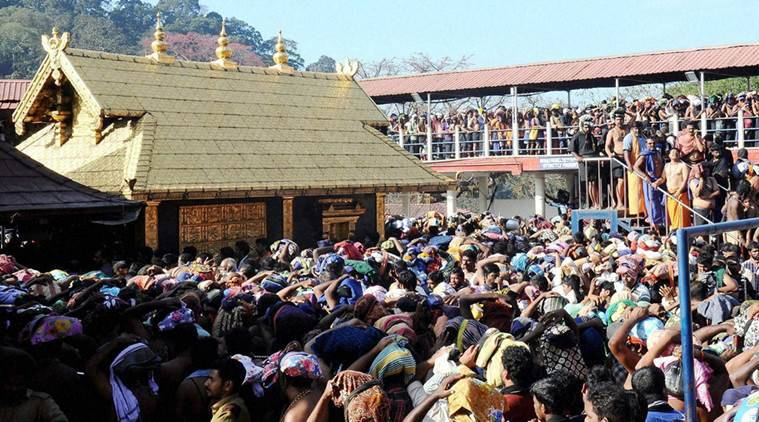 Sabarimala: Ayyappa devotees throng at Sannidanam in Sabarimala on Wednesday. PTI Photo (PTI1_6_2016_000222A)