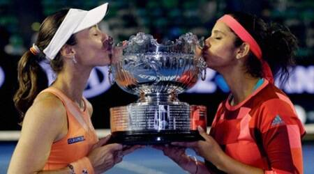 Martina Hingis and Sania Mirza win, Martina Hingis and Sania Mirza title win, Sania Mirza win, Australia Open updates, Australian Open results, Australian Open, Tennis news, Tennis