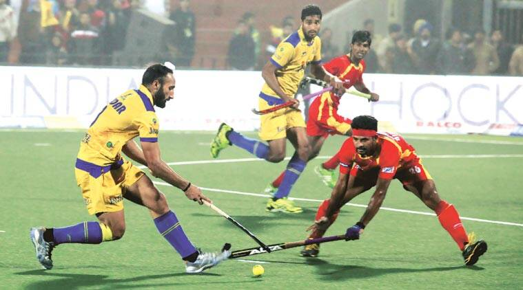 Sardar Singh assisted Jake Whetton's second minute goal. (Express Photo by: Jasbir Malhi)