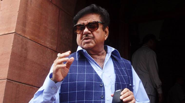 BJP Shatrughan Sinha at the Parliament house in New Delhi on Monday. Express Photo by Prem Nath Pandey. 10.08.2015.