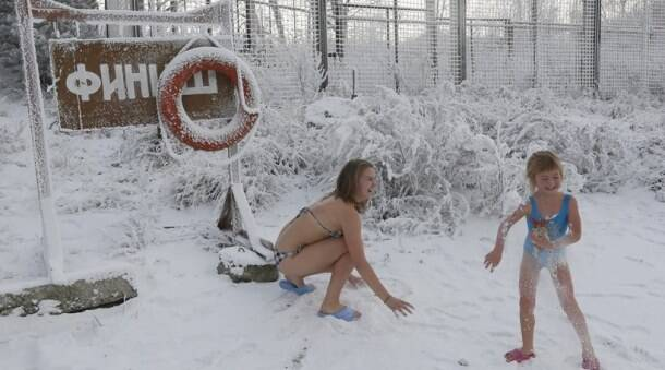 Want to jump into icy cold water in Siberia at minus 30 degrees C?