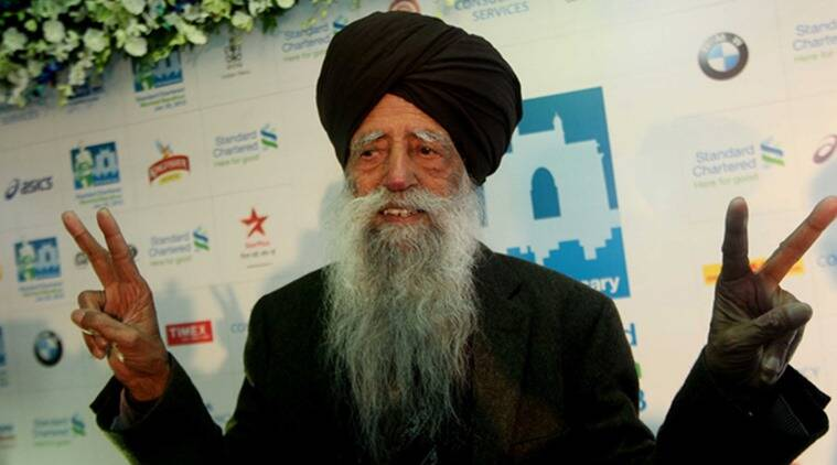 Fauja Singh believed to be the world?s oldest marathon runner after running the London Marathon. 101-year-old Singh will take part in the Senior citizen 4.5 kilometer run in  Mumbai Marathon on Sunday. (Photo: Kevin D'Souza)
