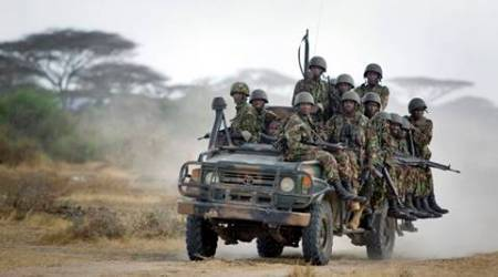 Bomb kills Kenya police as troops pull out of Somalibases