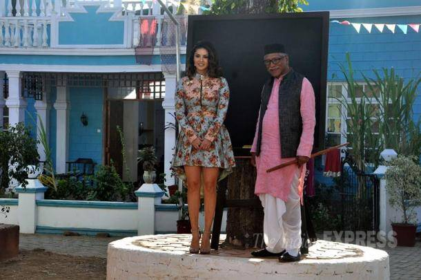sunny leone, Mastizaade, vir das, Chidiya Ghar, Chidiya Ghar set, Rajendra Gupta, Kesari Narayan, Chidiya Ghar cast, sunny leone film, Mastizaade promotion, Mastizaade promotion images, entertainment photos