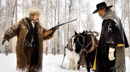 The Hateful Eight movie review, The Hateful Eight review, The Hateful Eight, The Hateful Eight Stars, The Hateful Eight Ratings, The Hateful Eight cast, Quentin Tarantino, review, movie review, stars, ratings, Samuel L Jackson, Kurt Russell, Jennifer Jason Leigh, Walter Goggins, Demian Bechir, Michael Madsen, Bruce Dern, Tim Roth