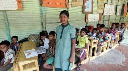 Rekha Nilappa Powar studies currently in the tenth grade at a school for quarry workers' children in Wagholi. Express Photo By Sandeep Daundkar,Pune,19.01.2016  (16 in 2016 series photo for Sunday Eye)