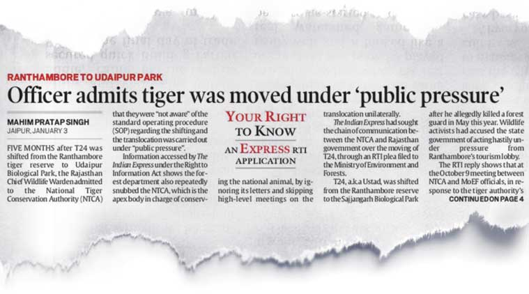 The Indian Express report of January 4.