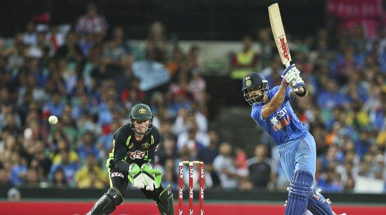 Virat Kohli scored a fluent 50 and stitched a crucial partnership with Rohit Sharma. (Source: AP)