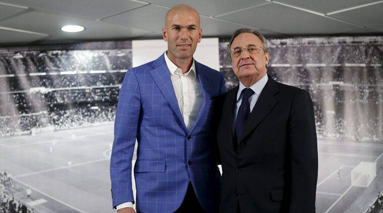 Zinedine Zidane announced as Real Madrid's coach by President Florentino Perez.(Sources: REUTERS)