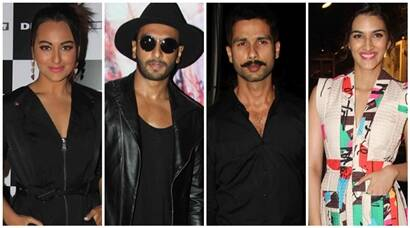 Sonakshi, Ranveer, Shahid, Kriti style up the weekend