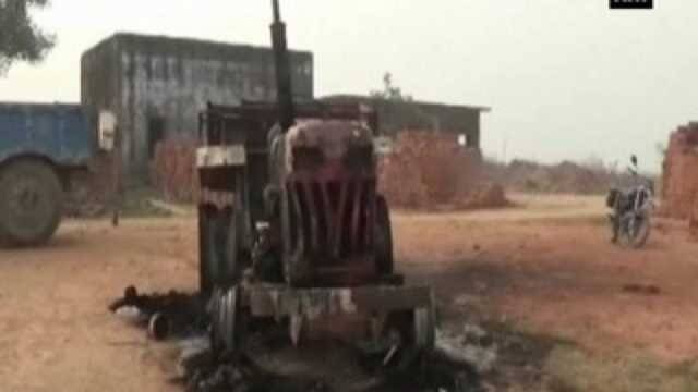 Maoists torch tractor in Gaya
