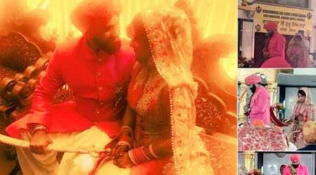 Aarya Babbar marries girlfriend Jasmine Puri, see photo of thenewlyweds