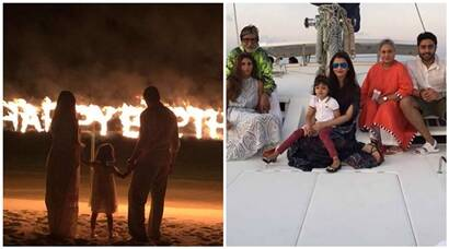 Aishwarya, Aaradhya celebrate Abhishek Bachchan's 40th birthday in Maldives, see photos