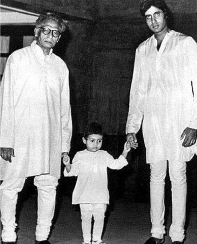 Abhishek, Harivash Rai Bachchan, Amitabh Bachchan