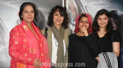 Shabana Azmi watches Neerja with daughter-in-law Adhuna