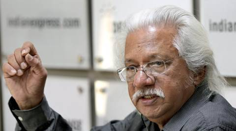 Filmmaker Adoor Gopalakrishnan at the Indian Express idea exchange in Noida on Feb 9th 2016. Express photo by Ravi Kanojia.