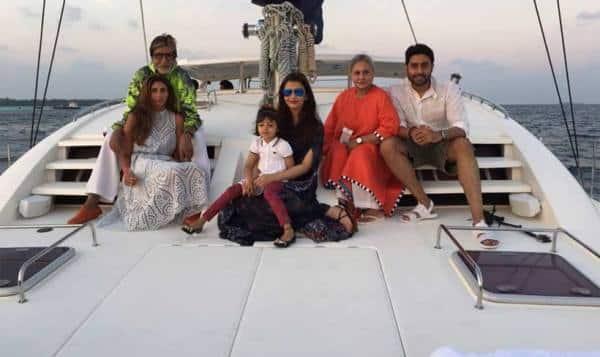 Amitabh Bachchan, Aishwarya, Jaya Bachchan, Shweta Bachchan, Aaradhya Bachchan