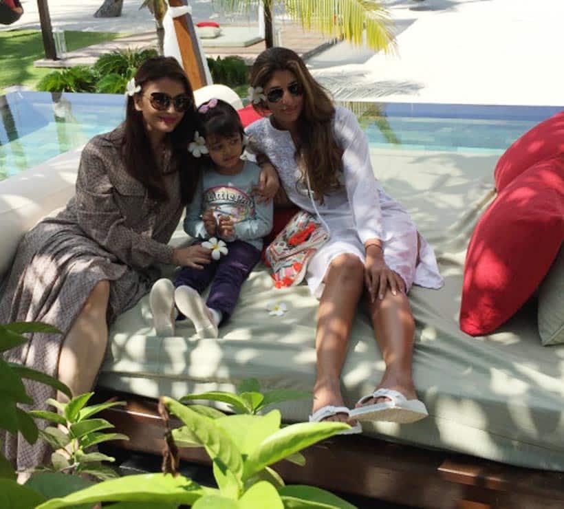 Aishwarya Rai, Aaradhya Bachchan, Shweta Nanda, Aishwarya aaradhya photos, Maldives holiday photos, Aishwarya Maldives photos